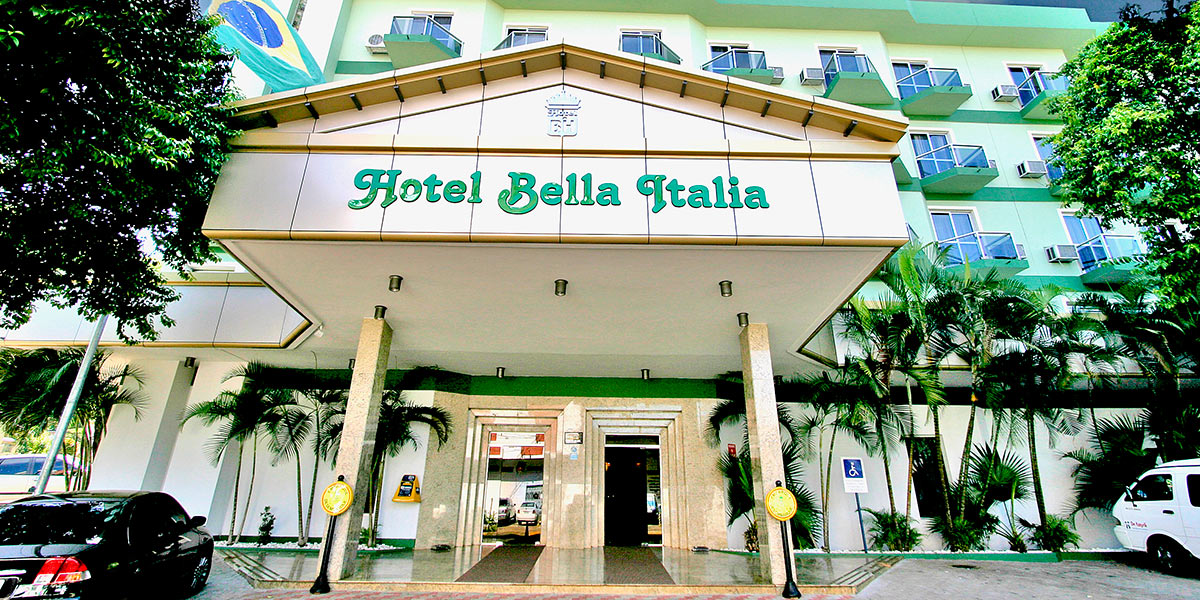Fachada do Hotel Bella Italia